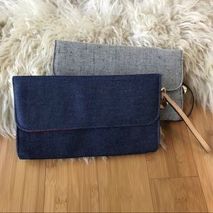 Lot of 2 Lulu's adorable cloth clutches
